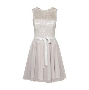 SWING Koktejlové šaty 'Cocktailkleid mit Spitzenoberteil'  stříbrně šedá