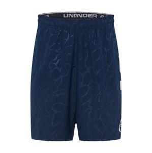 UNDER ARMOUR Sportovní kalhoty  námořnická modř / světle šedá