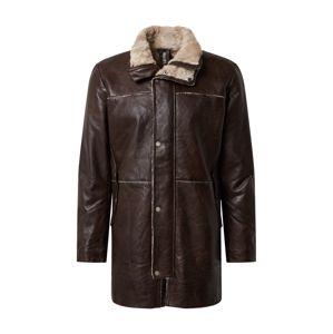 FREAKY NATION Zimní kabát 'Malte'  tmavě hnědá / světle béžová