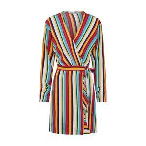 ONLY Šaty 'onlMILLY L/S WRAP DRESS WVN'  žlutá / mix barev