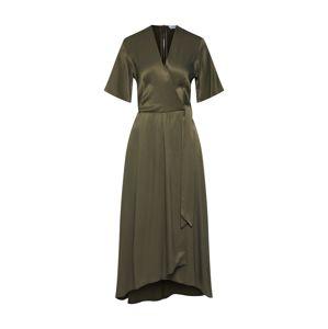 Closet London Letní šaty 'Closet Pleated Wrap Dress'  khaki