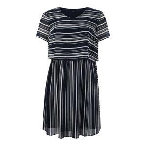 Tom Tailor Women + Šaty  námořnická modř / bílá
