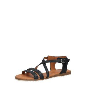 Apple of Eden Páskové sandály 'MILA'  černá
