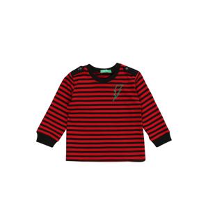 UNITED COLORS OF BENETTON Tričko  červená / černá