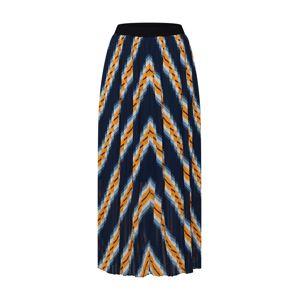 JUST FEMALE Sukně 'Line skirt'  námořnická modř / žlutá / bílá