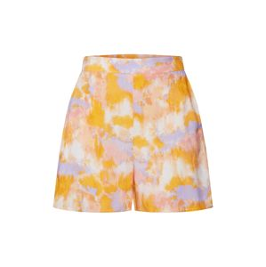 NEW LOOK Kalhoty 'LOLA TIE DYE FLIPPY SHORT'  krémová / světlemodrá / oranžová