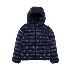 UNITED COLORS OF BENETTON Přechodná bunda  bílá / kobaltová modř