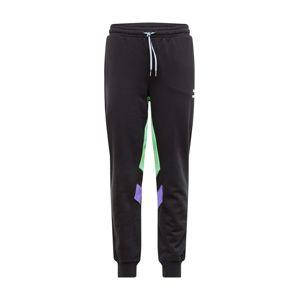 PUMA Kalhoty 'TFS Track'  černá / svítivě zelená / svítivě fialová