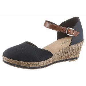 RIEKER Sandály  tmavě modrá / hnědá