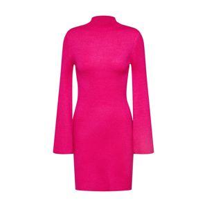 Bardot Úpletové šaty  tmavě růžová