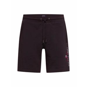 TOMMY HILFIGER Kalhoty  černá / červená / bílá