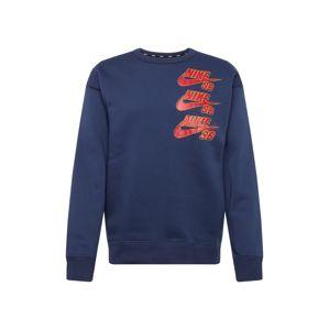 Nike SB Mikina  červená / námořnická modř