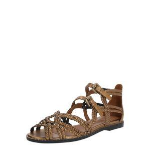 See by Chloé Páskové sandály  bronzová