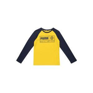 PUMA Funkční tričko 'Alpha Graphic'  námořnická modř / žlutá