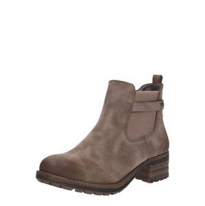 RIEKER Chelsea boty  šedobéžová