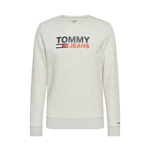 Tommy Jeans Mikina  světle šedá
