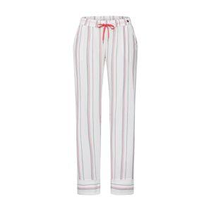 ESPRIT Pyžamové kalhoty 'Adah'  bílá / pastelově červená / černá