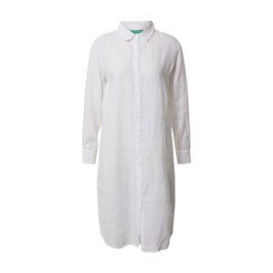 UNITED COLORS OF BENETTON Košilové šaty  bílá