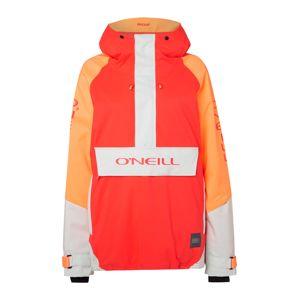 O'NEILL Sportovní bunda 'ORIGINAL'  bílá / oranžová / ohnivá červená