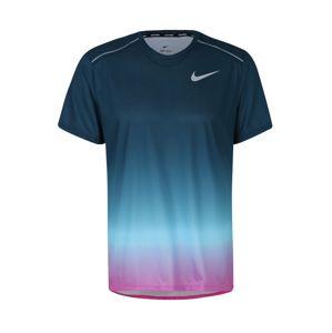 NIKE Funkční tričko 'M NK DRY MILER SS PR'  světlemodrá / tmavě modrá / pink