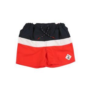 NAME IT Plavecké šortky  bílá / červená / modrá