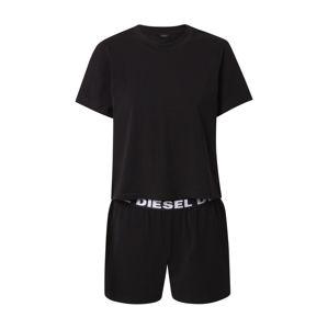 DIESEL Pyžamo  bílá / černá