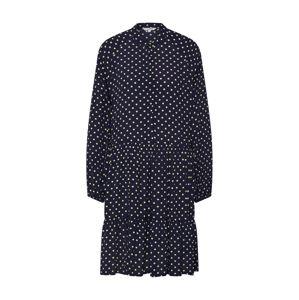 Mbym Košilové šaty 'Marranie'  bílá / tmavě modrá
