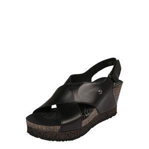 PANAMA JACK Páskové sandály 'Valeska Nature'  černá