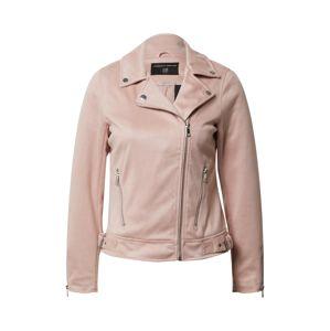 Dorothy Perkins Přechodná bunda 'Blush Suedette Biker Jacket'  pink / růžová