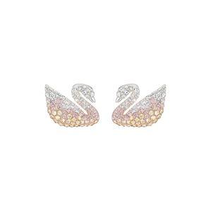 Swarovski Náušnice 'Swan'  růže / stříbrná / zlatá