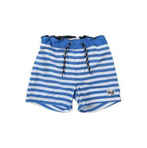 NAME IT Plavecké šortky  modrá / bílá