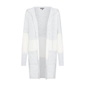 STREET ONE Pletený kabátek  šedý melír / bílá