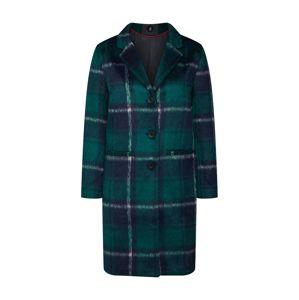 SISTERS POINT Zimní kabát 'CLARA'  tmavě modrá / petrolejová / bílá