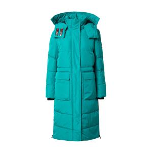 Tommy Jeans Zimní kabát  tyrkysová