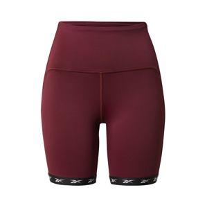 REEBOK Sportovní kalhoty  rezavě červená / rezavě hnědá / černá