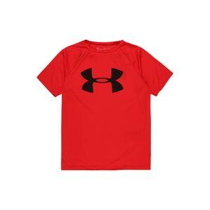 UNDER ARMOUR Funkční tričko  červená / černá