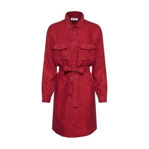 EDITED Košilové šaty 'Farha'  červená / bordó