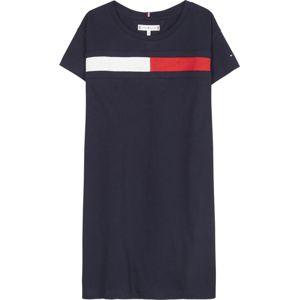TOMMY HILFIGER Šaty  tmavě modrá / bílá / červená
