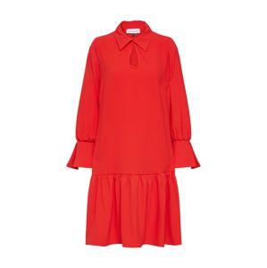 Closet London Košilové šaty  červená