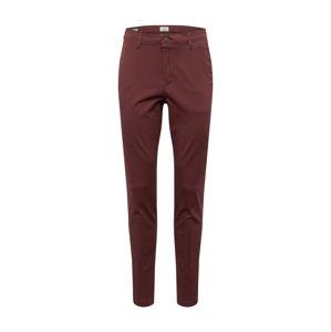 JACK & JONES Chino kalhoty 'Marco'  burgundská červeň