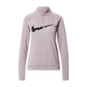 NIKE Sportovní mikina 'Swoosh Run'  pastelová fialová / černá / bílá