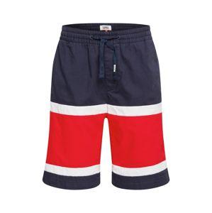 Tommy Jeans Kalhoty  námořnická modř / bílá / červená