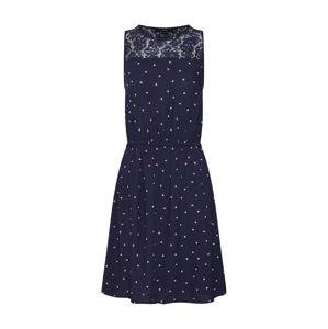 VERO MODA Letní šaty 'Boca'  námořnická modř / růžová