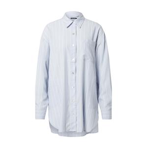 Marc O'Polo Noční košilka  světlemodrá / bílá
