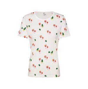 ONLY Tričko  zelená / červená / bílá