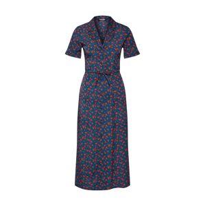 Fashion Union Košilové šaty 'Wine'  tmavě modrá / zelená / červená