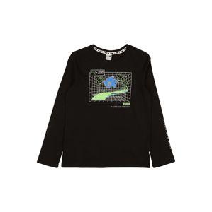 PUMA Funkční tričko  černá / modrá / světle zelená / bílá