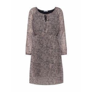 Hailys Košilové šaty 'Carolina'  černá / béžová