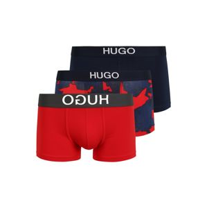 HUGO Boxerky  chladná modrá / bílá / červená / černá