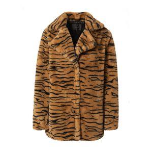 Rut & Circle Zimní kabát 'Nova'  černá / hnědá